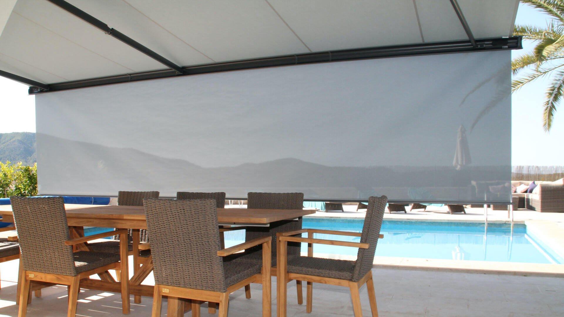 Markilux 6000 toldo deplegado terraza
