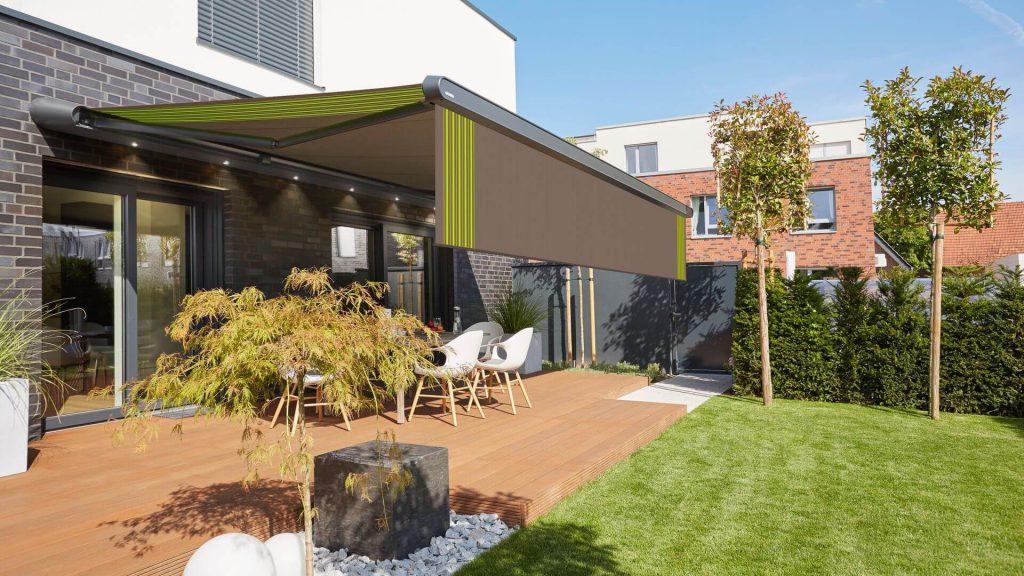 Markilux MX-1 instalado en terraza jardin