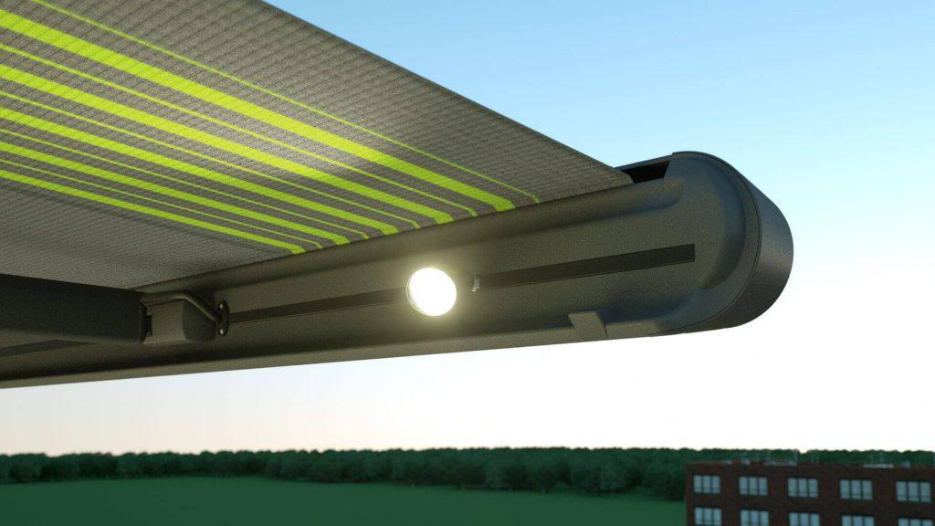 Markilux MX-1 detalle luces incorporadas